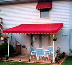 Patio cover and matching window awning